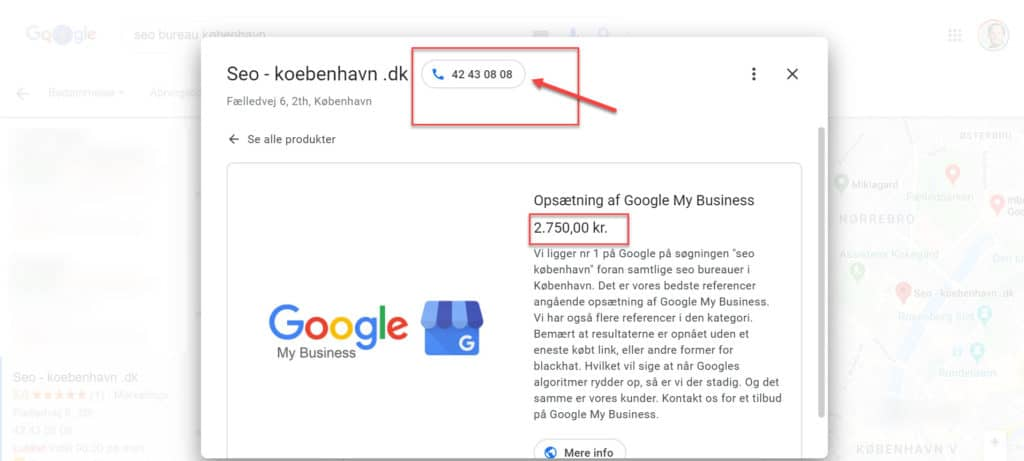 google my business seo